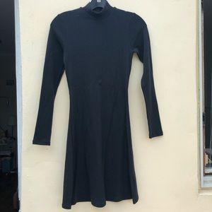 American apparel black ribbed mock neck dress